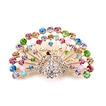 Retro-Pfau Intarsien Diamant Tier Legierung Brosche
