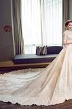 Formell Natürliche Taille A-Linie Hoher Kragen Frühling Brautkleid