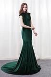 Juwel Petite Typ Drapierung Lang Luxus Winter Abendkleid