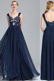 Chiffon Sweep Zug Birneförmig Elegant Reißverschluss Abendkleid