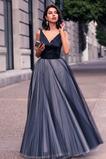 Reißverschluss Sommer Natürliche Taille Satin A-Linie Abendkleid