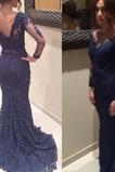 Keine Taille Applike Mitte Rücken Mittelgröße Meerjungfrau Abendkleid