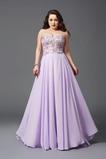 Elegant Spitzen-Overlay Chiffon Rückenfrei A-Linie Abendkleid