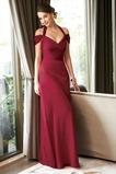 Wickeln Sie die Rotatorenmanschette Herbst Rechteck Marone Kurze Ärmel Falte Mieder Abendkleid