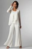 Lange Ärmel Natürliche Taille Chiffon Elegant Dünn Hosenanzug Kleid