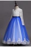 Mittelgröße Natürliche Taille Formell Reißverschluss Juwel Blumenmädchenkleid