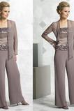 Hoch Überdachte T-Shirt Kleine Größe Bördeln Lange Ärmel Formell Hosenanzug Kleid