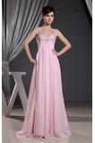Kristall Bodenlang Empire Taille Elegant Mitte Rücken Abendkleid