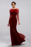 Natürliche Taille Lange Ärmel Meerjungfrau Reißverschluss Abendkleid