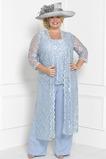 Natürliche Taille Formell Rechteck Durchsichtige Ärmel Hosenanzug Kleid