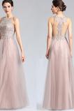 Elegant Spitzen-Overlay Drapierung Mittelgröße Bodenlang Abendkleid