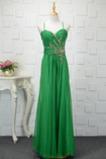 A-Linie Elegant Drapierung Chiffon Ärmellos Rückenfrei Abendkleid