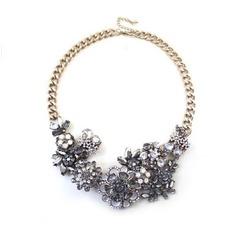Legierung kurze Mode Blumen Großhandel Halskette & Anhänger