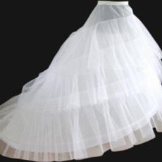 Elastische Taille Modisch Zwei Felgen Hochzeitskleid Nachgestellte Hochzeit Petticoat