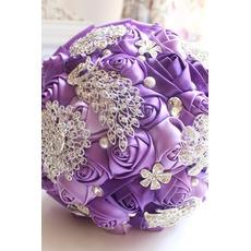 Perlen lila Diamanten Hochzeit Foto-Layout Hochzeitsdekoration kreativ mit Blumen