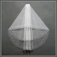 Schick Mit Kamm Bördeln Weiß Kurze Herbst Hochzeitsschleier
