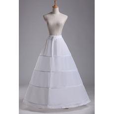 Polyester Taft Zwei bündel Taille Vier Felgen Standard Hochzeit Petticoat