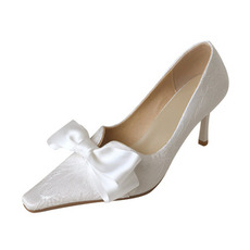 Spitze einzelne Schuhe weiße Spitze Brautjungfernschuhe Hochzeit Brautschuhe
