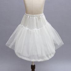 Weiß Kinder Kleid Starkes Netz Glamourös Rahmenlose Hochzeit Petticoat