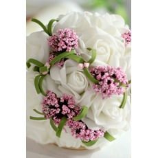 Die Simulation Blume Blumenstrauß Braut Brautjungfer Hochzeit Hand bouquet