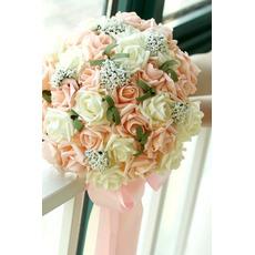 30 Blumenstrauß der Braut hält Champagner rose Simulation Blume Brautjungfer Hochzeit