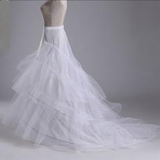 Durchmesser Meerjungfrau Modisch Starkes Netz Doppelgarn Hochzeit Petticoat