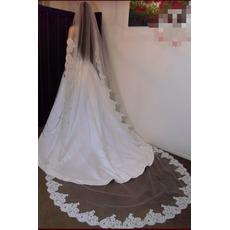 Spitze Spitze Lange Weiß Frühling Das ewige Hochzeitsschleier