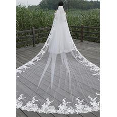 Lace Schleier Hochzeit Prinzessin Schleier Braut Brautschleier 400CM