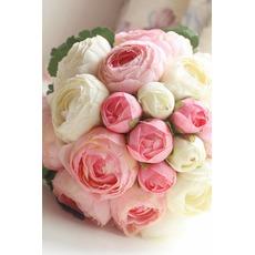 Diamant Perlen einfach atmosphärische hand Blumenstrauß eine Matrone der Ehre