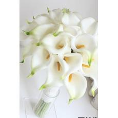 Die Braut hält eine Simulation Calla Lilie Blume Blumenstrauß Brautjungfer Blume Blumenmädchen hand