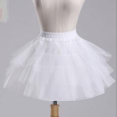 Starkes Netz Kurze Rahmenlose Lange Doppelgarn Modisch Hochzeit Petticoat