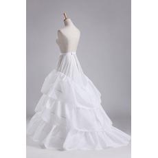 Flouncing Elastische Taille Volles Kleid Polyester Taft Hochzeit Petticoat