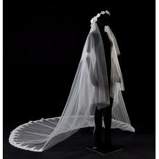3.5m Kathedralenhochzeitsschleier-Spitzeschleier-Brautschleier