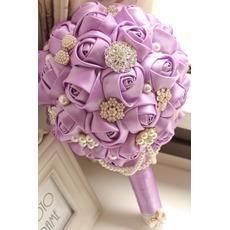 High-End benutzerdefinierte lila Thema Hochzeit Braut Strauß