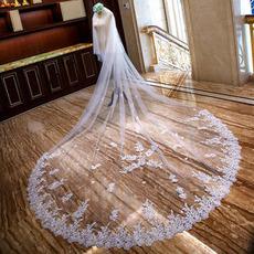 Langer Brautschleier Spitzenschleier Hochzeitsschwanzschleier Großhandelsschleier