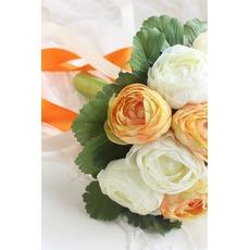 Weiße hand die Pfingstrose koreanischen Bräute Huashan Kamelie Simulation rote Hochzeit bouquet