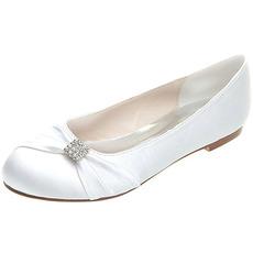 Flache Schuhe Satin Mutterschaft Hochzeit Schuhe Hochzeit plus Größe flache Schuhe