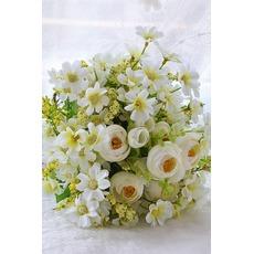 Grüner und weißer Tee-Blumen hand Strauß koreanischen Bräute heiratete simulation