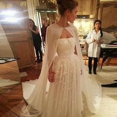 Chiffon langen Schal einfache elegante Hochzeitsjacke 2 Meter lang
