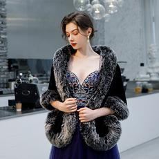 Winter Hochzeit Schal Fellimitat warmen Schal Brautkleid Mantel