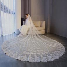 Großer Schwanzschleier Hochzeitszubehör 3 Meter langer Schleier Braut Hochzeitsschleier