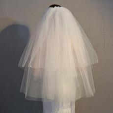 Einfacher kurzer Schleierhochzeitsschleier preiswerter Brautschleier