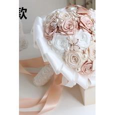 Perle Diamant Hand Braut hält Blumen benutzerdefinierte Multifunktionsleiste Rosen Brautjungfer Brautstrauß
