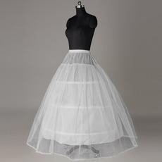 Elastische Taille Drei Felgen Standard Klassisch Starkes Netz Hochzeit Petticoat