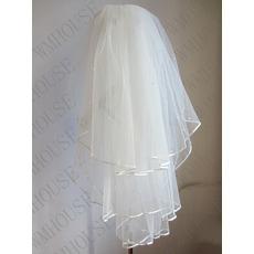 Brautschleier 3-lagiger flauschiger Hochzeitsperlenschleier Hochzeitsschleier