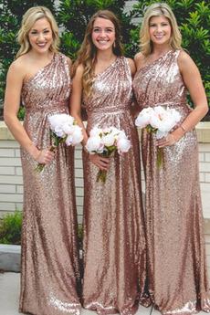 Natürliche Taille Lange Ärmellos Mittelgröße Frühling Brautjungfernkleid