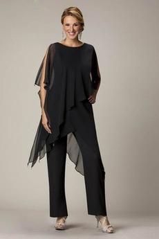 Natürliche Taille Halbe Ärmel Übergröße Hoch Überdachte Hosenanzug Kleid