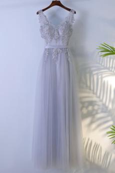 Sanduhrförmig Mehrschichtige Natürliche Taille A-Linie Brautjungfernkleid