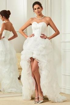 Herz-Ausschnitt Natürliche Taille Kapelle Schleppe Herbst Brautkleid