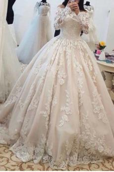 Reißverschluss Das ewige Natürliche Taille Applike Brautkleid